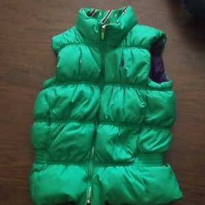 Purple, Green , and gold polo vest